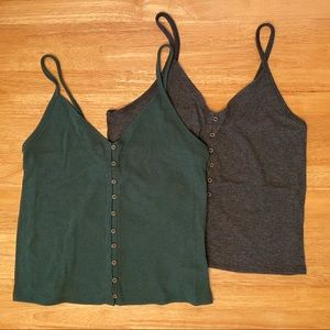 TWO American Eagle tank tops, size L